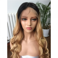 Brazilian Hair Ombre 1b 27 Color loose Wave Full Lace Human Hair Wigs With Baby Hair Natural Hairline